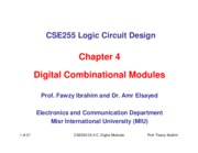 CSE255 Logic Chapter_4_Combinational Digital Modules