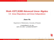 Lecture 1.5 on Advanced Linear Algebra