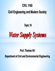 1160-10-WATER SUPPLY