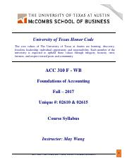 ACC 310 F - WB - Fall 2017 - Course Syllabus - Posted on Canvas.pdf