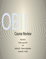 BU398  Course Review