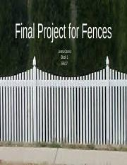 Final Project for Fences.pptx