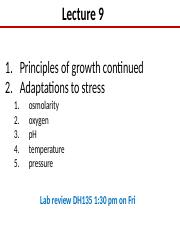 Lect 9 Prok growth continued
