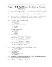 Homework M Solutions on Principles of Chemistry