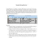 179014_Transfer Pricing Exercise .docx