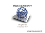 Chapter 13. Market efficiency