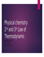 Chapter 4 Second and Third Law of Thermodynamic