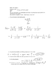 Recitation Quiz 10 Solution on Calculus 1