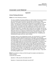 "appendix i critical thinking worksheet choose one of the following scenarios Gastroenteritis at a university in texas  critical role,  the ""foodborne illness complaint worksheet"" (appendix 1)."