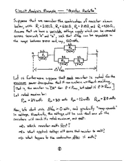 Physics notes Resistor Analysis