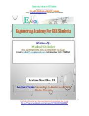 Lecture Sheet-13. Capacitor, Inductor and First Order Circuits.pdf