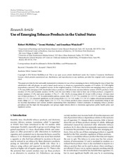 McMillen (2012) use of emerging tobacco products in the united states