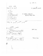 Calculus1 Notes 8 Product Rule, Chain Rule Continued
