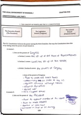 Power and the US Constitution Worksheet