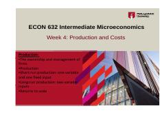 Week 4_Production and Cost