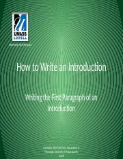 How to write an Introduction-The First Paragraph_tcm18-117650.pptx