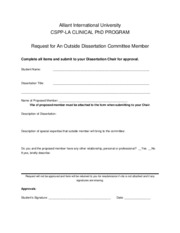 Request for Outside Dissertation Member form1