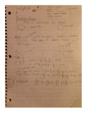 Finding Areas Class Notes MATH 181