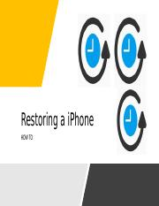 Restoring a iPhone.pptx