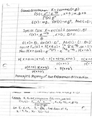 Gamma distribution notes