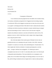 social problems plentitude essay