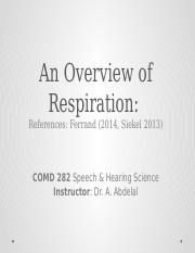 Respiration Overview
