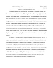 essay #1 intellectual journey