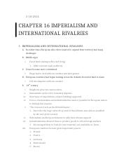 Chapter 16 Imperialism and International Rivalries.docx