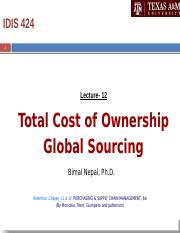 Lecture 12 (TCO and Global Sourcing) Handout (1).pptx