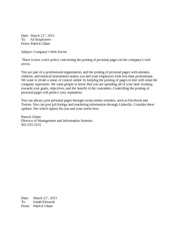 2nd set of negative business letters