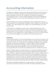 Accounting Information