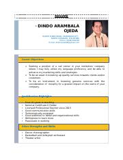 RESUME FOR CALL CENTER APPLICATION.docx