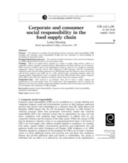 CSR in food supply chains