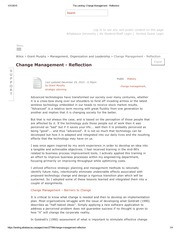The Landing_ Change Management - Reflection