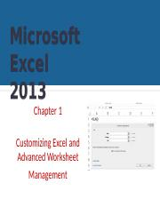 Ch01-Customizing Excel and Advanced Worksheet Management
