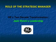 GE Jack Welch first 10 years Lecture Slides