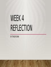 Week 4 reflection