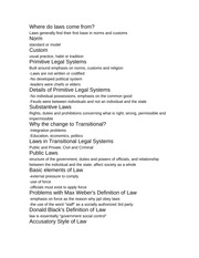 Evolution and Basics of Law Notes