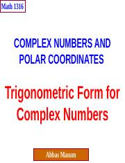 1316-Chapter 3_Trig&ComplexNumbers.pptx