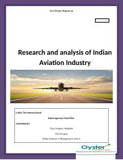 Research and Analysis of the Indian Aviation Industry