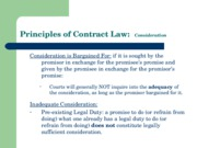 Slides for last section of Principles of Contract Law