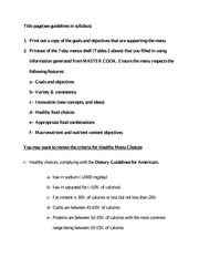 Guidelines for Final