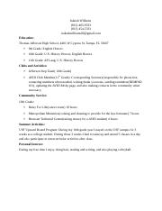 Irakiah Resume for AVID