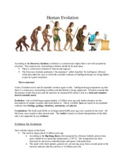 Human evolution lecture