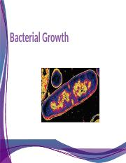MBG372 - Lecture 5 - Cell Growth (2)
