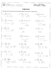 Derivative Practice Worksheet - Name Date Derivatives Practice 4 IB ...