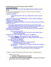 General Biology Test 3 Review questions