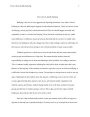 How schools handle bullying.docx