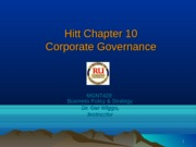 Unit 2 help MGNT428 Ch10 Corporate Governance Lecture