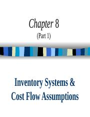 ACCT 206 - Ch 08 (Part 1) - Cost Flows (2).ppt